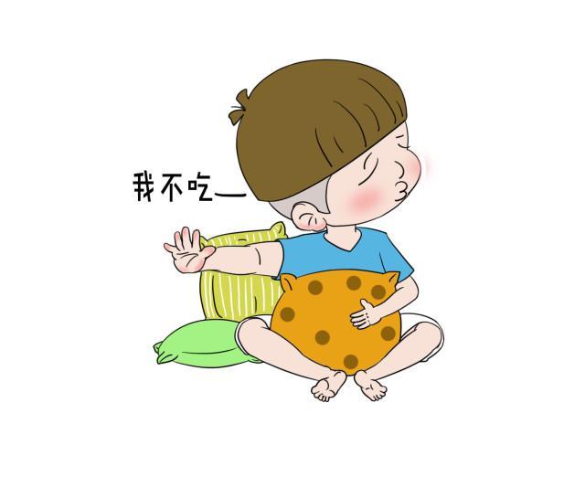 小朋友吃饭卡通