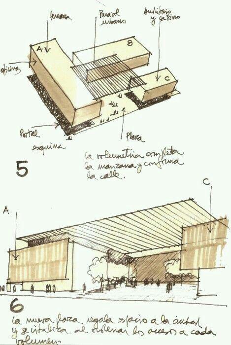 建筑手绘—体块组合与分割