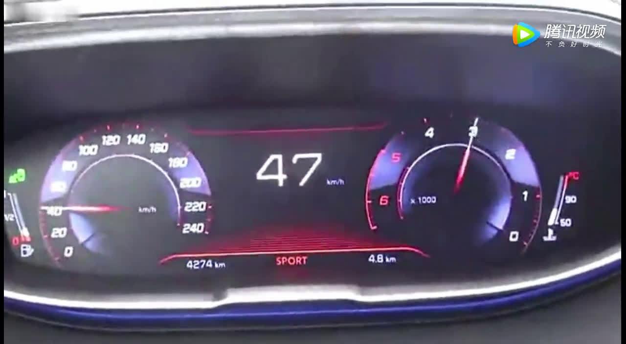 17款标致5008加速测试,1.5T动力 油耗5.3L  