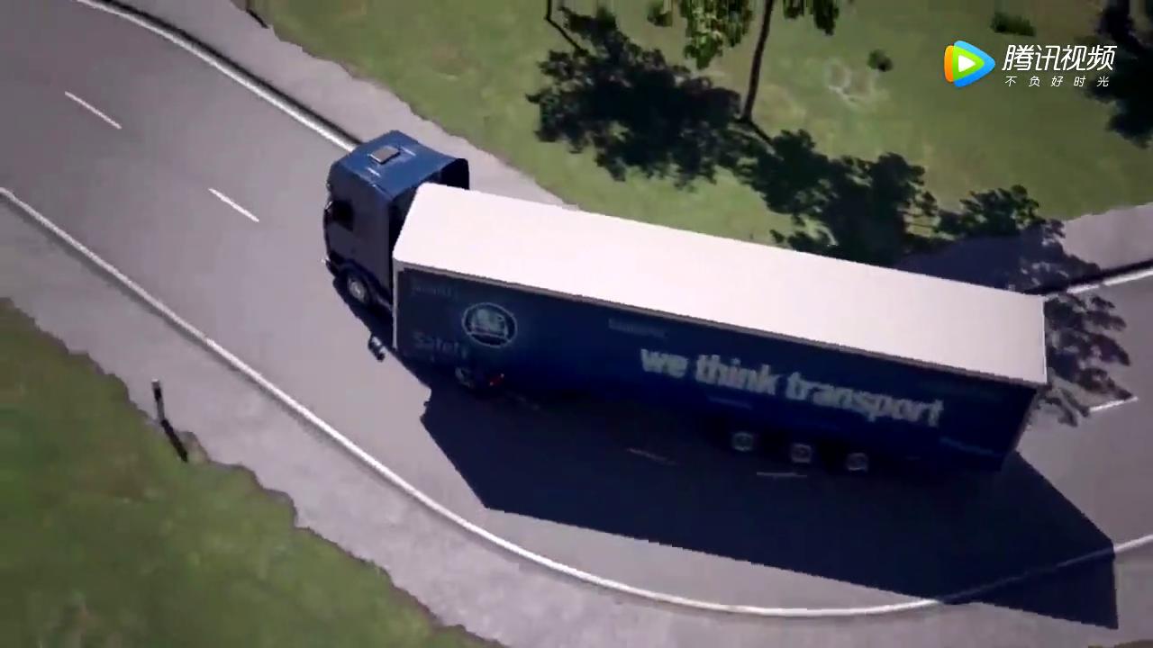 卡车最强黑科技 减少车辆转弯半径 挂车<em>随动转向</em>技术