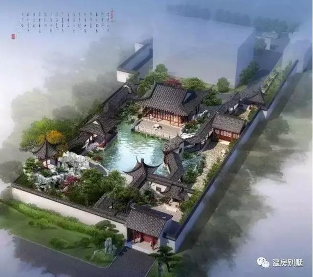 效果图 设计图:朱门大院,住宅的设计,除了主房,厢房,还有各种庭院