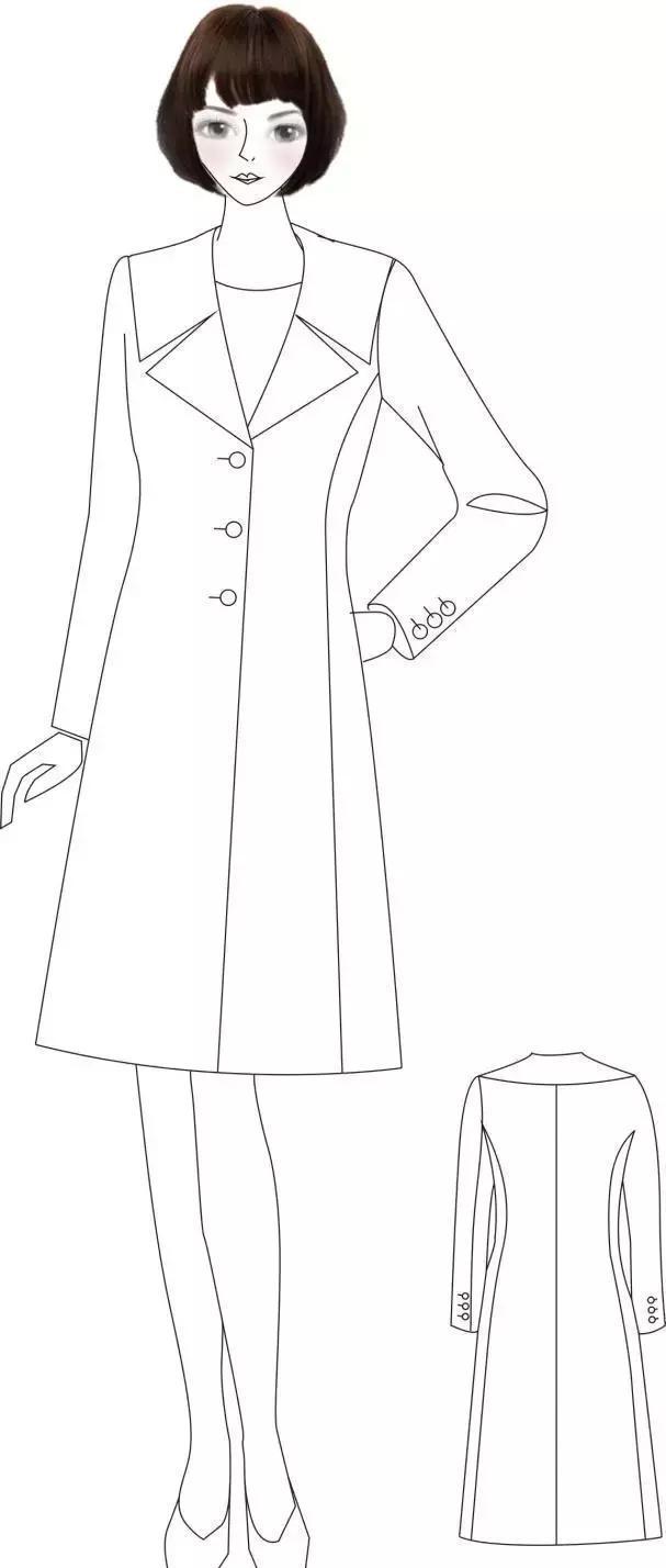 随着汽车,空调的发展,大衣不再局限于防寒保暖的功能性,领子的作用图片