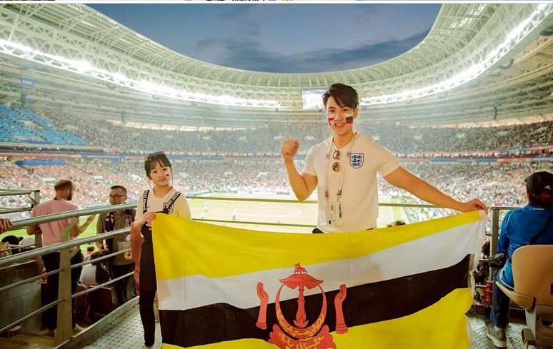 俄罗斯世界杯半决赛 吴尊带着女儿Neinei现身观众席温馨十足