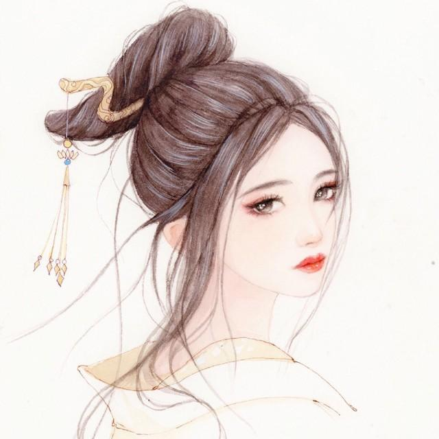 古风动漫手绘闺密头像