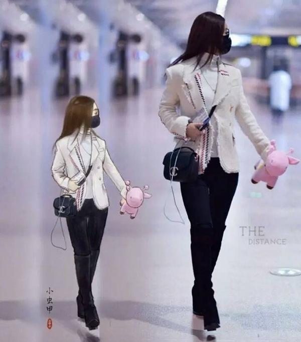 赵丽颖手绘机场秀,毫无违和感,网友:这也太可爱了吧