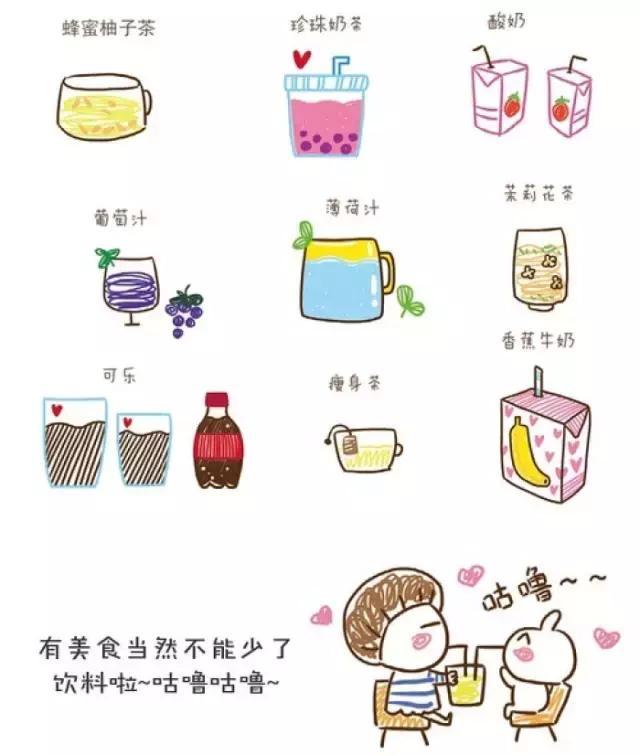 可爱甜品图片简笔画