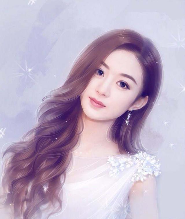 手绘最美的女明星:赵丽颖可爱,迪丽热巴惹人疼,第一名