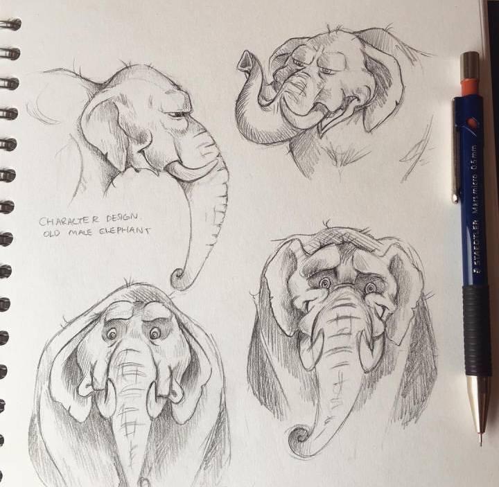 可爱动物手绘线稿,临摹收藏啦!ins:lilz_art @微博艺术