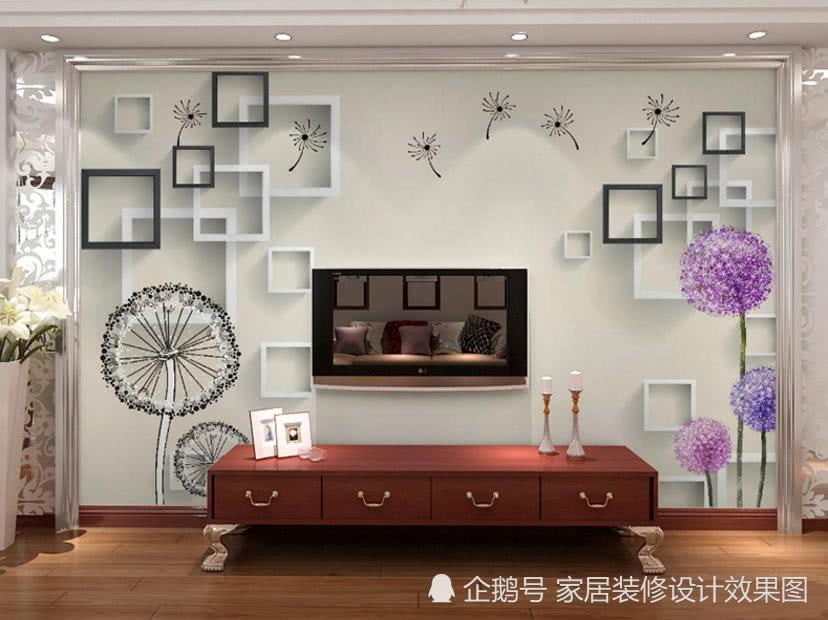 影视墙装修效果图2018-客厅电视墙背景效果图