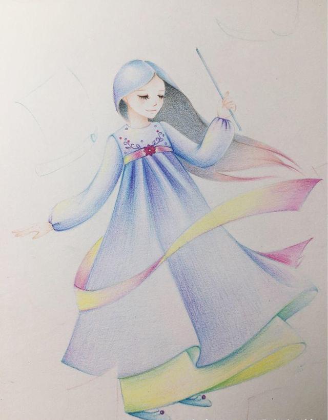 彩铅手绘唯美小鸟教程