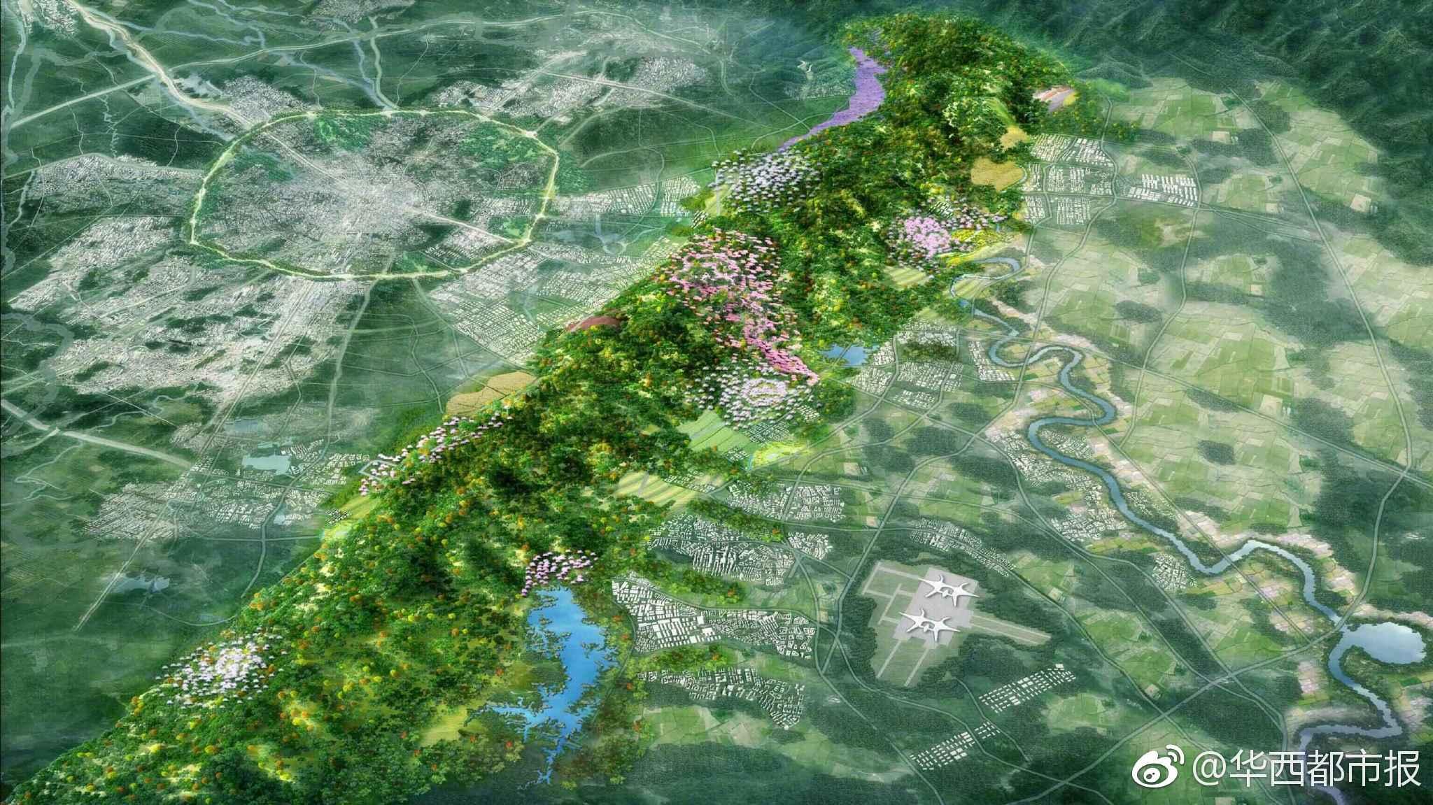 """龙泉山城市森林公园向全球发""""英雄帖"""",比拼顶层设计方案图片"""