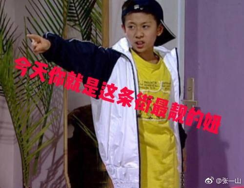 张一山用刘星表情包为她庆生:你是这条街最靓的妞,杨紫:差评!图片