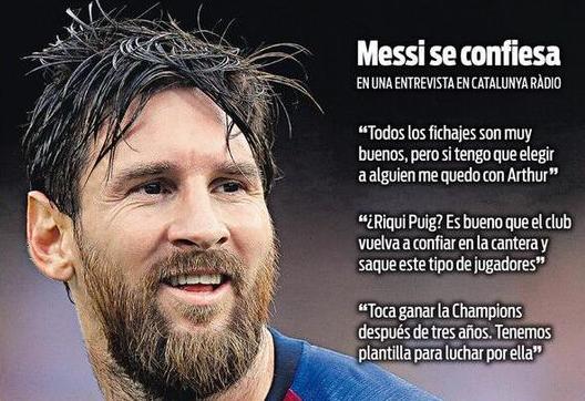 落选世界足球先生,梅西欲用欧冠回击C罗,尤文在等大场面