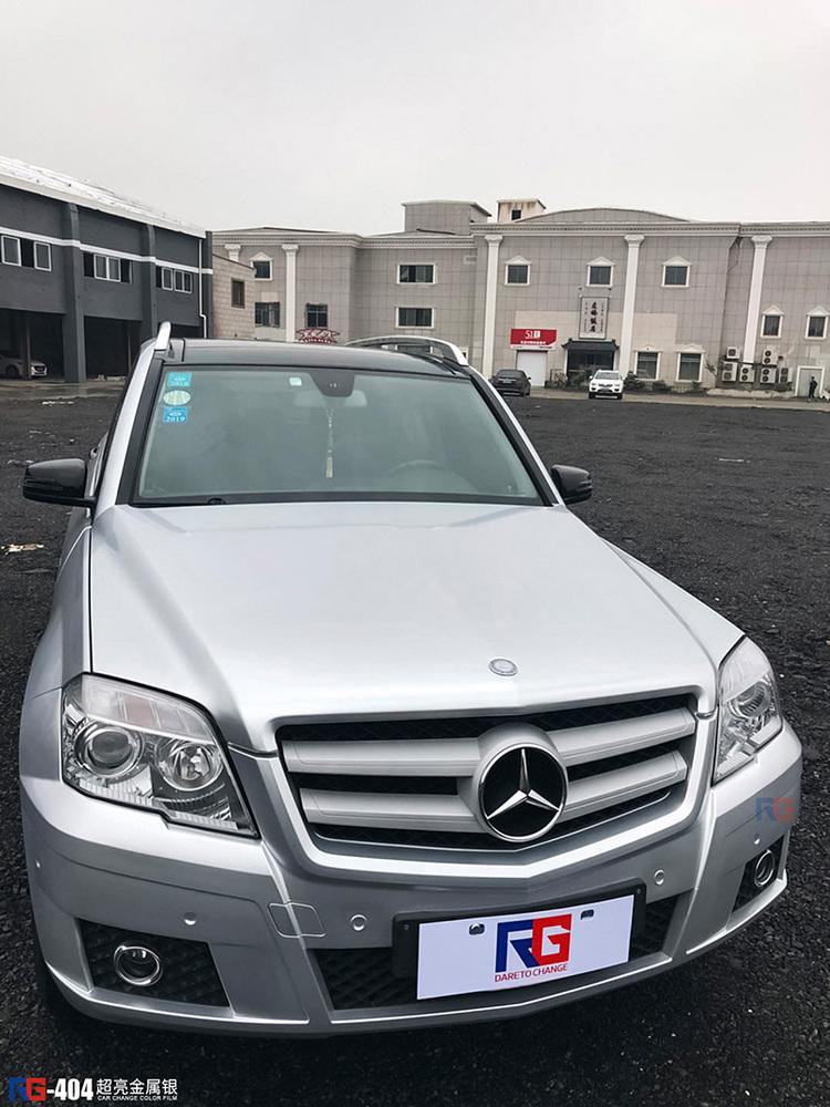 奔驰GLK300车身改色金属银  RG瑞集改色膜宁波江北区加盟店出品