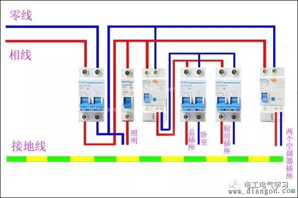 家用空开如何安装?家用空气开关的安装接线图解