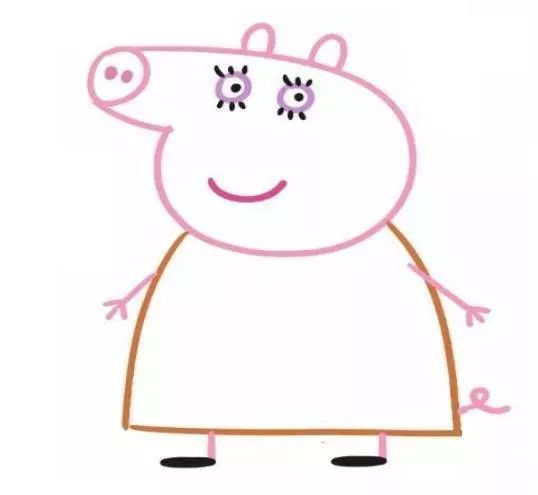 【绘画教程】小猪佩奇简笔画画法