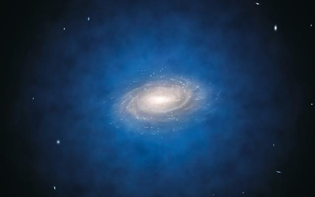 1300万光年外的信息违反暗物质深度,天文学家:银河系让技术星系与教育教学模型融合图片
