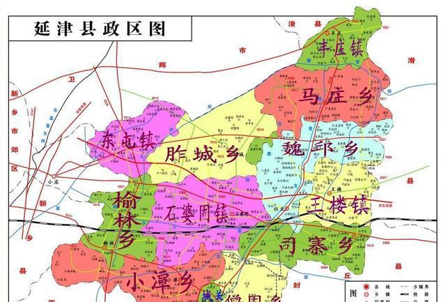 延津城区地图全图