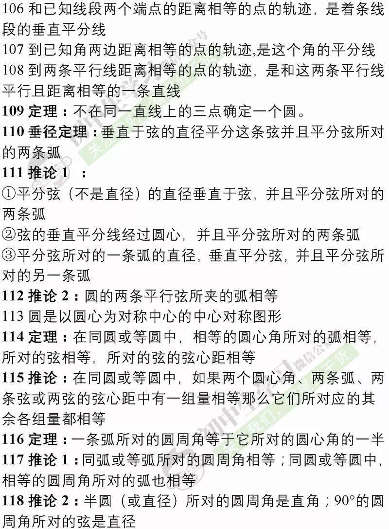 数学初中公理定理汇总研究所有的有效性作业推论初中语文图片