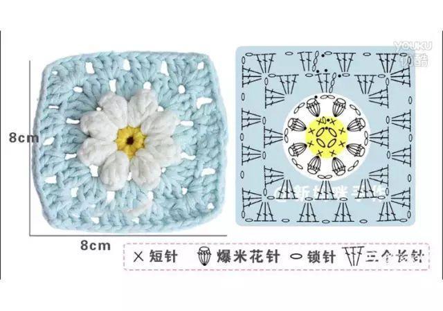 钩针浮雕菊花毯子,消磨时光的好利器