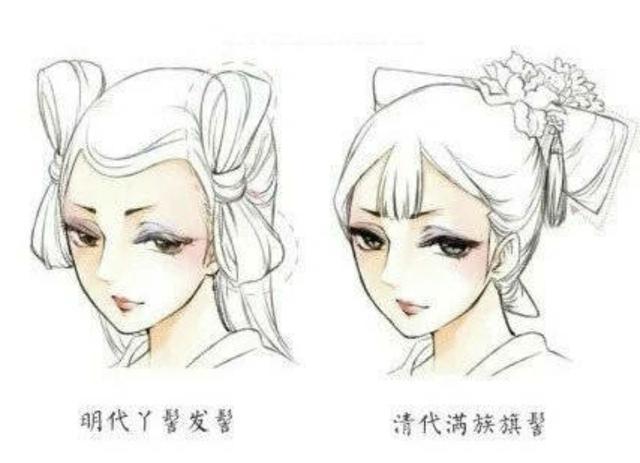 古风古韵中国美 古代女子妆容与发型图片