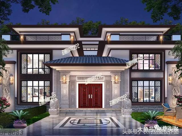 几套高性价新中式别墅图纸, 第三套竟然超百万!