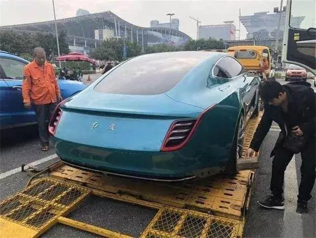 红旗E·境GT实车现身,气势不输任何品牌,国产豪华品牌的希望!