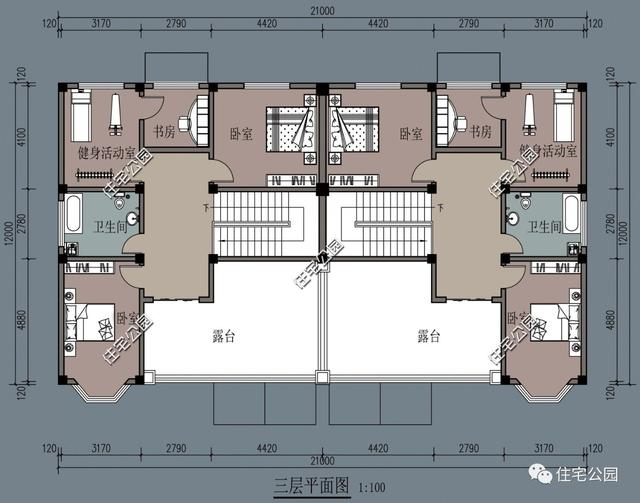 8.5米x12米平面图别墅