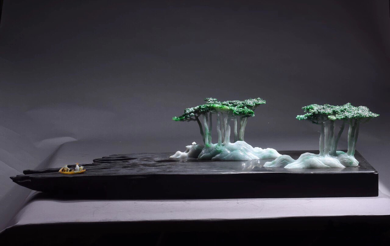 一个山水创作的玉雕艺术家,他是一个饱览自然的的践行者