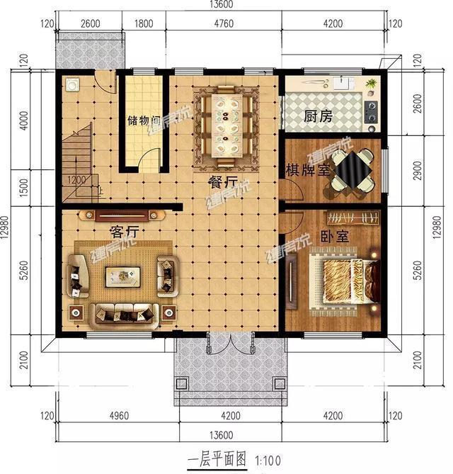 120平方米自建房设计图