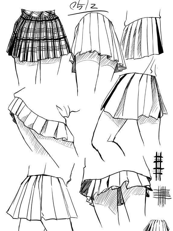 简易裙子手绘图片