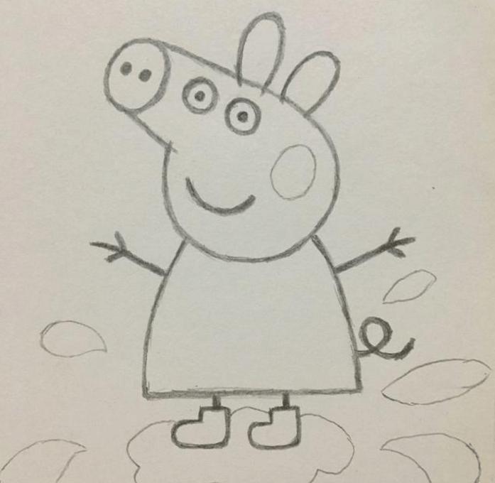 小猪佩奇超简易画法, 教宝宝画画如此简单