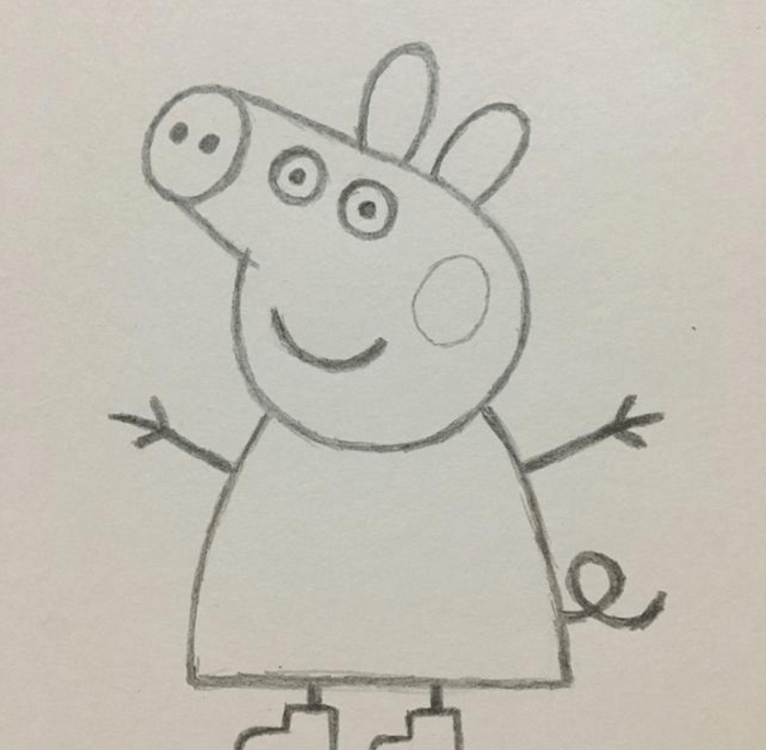 小猪佩奇超简易画法, 教宝宝画画如此简单图片