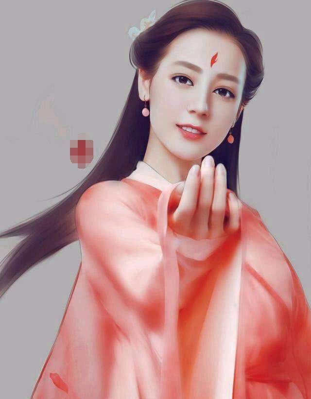 迪丽热巴,凤九的手绘图片也是非常不错的,看起来更加可爱了,也更加的