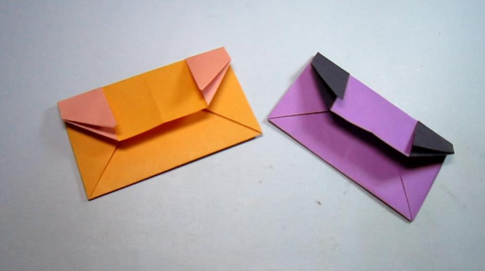 如何折纸钱包,一张正方形纸就能折出简单又漂亮的小钱包,diy手工制作