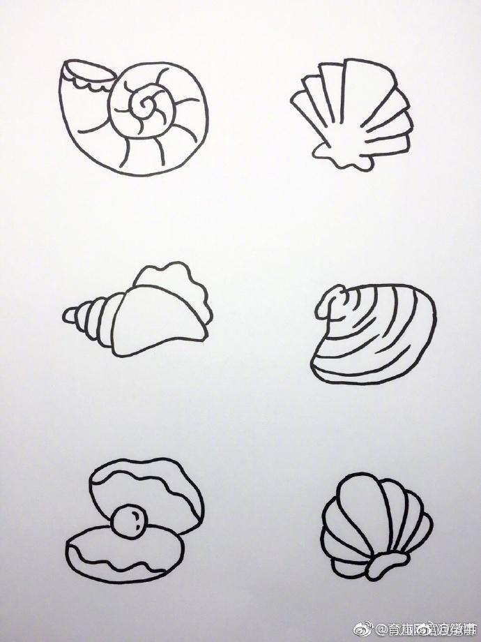 海底世界大海小鱼珊瑚简笔画!留着画给宝宝看