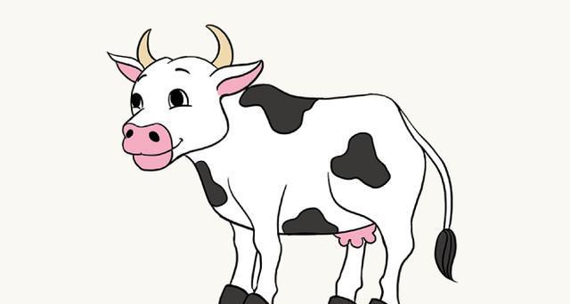 今天,yoyo分享一个小奶牛的简笔画教程,详细的每一个步骤和您一起来学