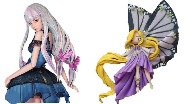 叶罗丽:当公主们变身q版玩偶,王默比冰公主漂亮,毒夕绯变可爱
