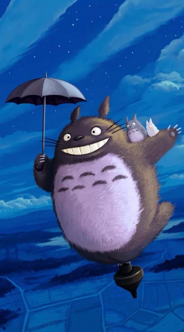 手机壁纸推荐:龙猫和无脸男更喜欢谁 你心中蠢萌的代表词是谁