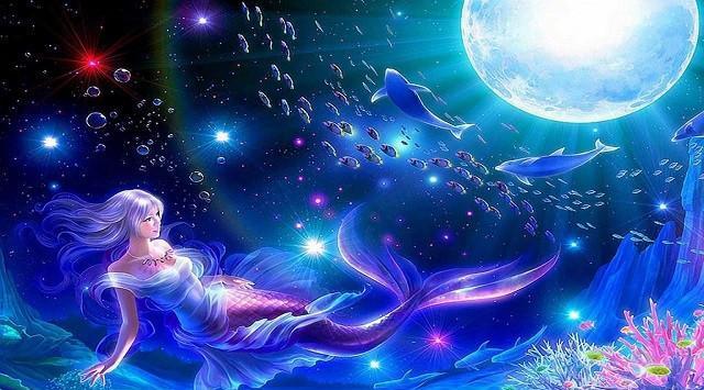 十二星座化身美人鱼公主,摩羯座的优雅,天蝎座图片
