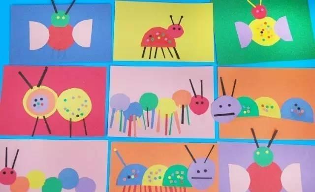 幼儿园手工之卡纸粘贴画: 超级有创意, 小班到大班的图片