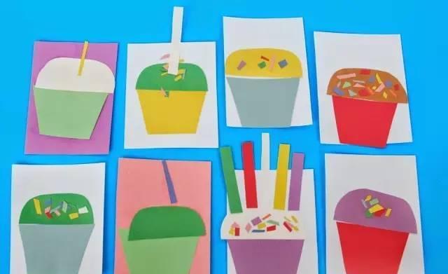 幼儿园手工之卡纸粘贴画: 超级有创意, 小班到大班的