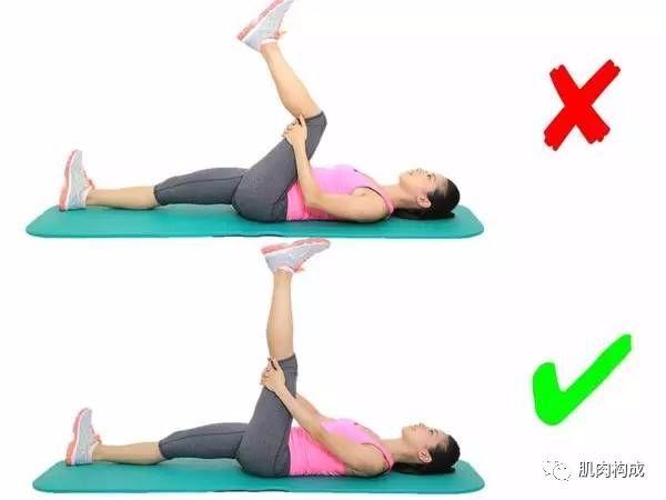 2、大腿前侧肌群的拉伸: