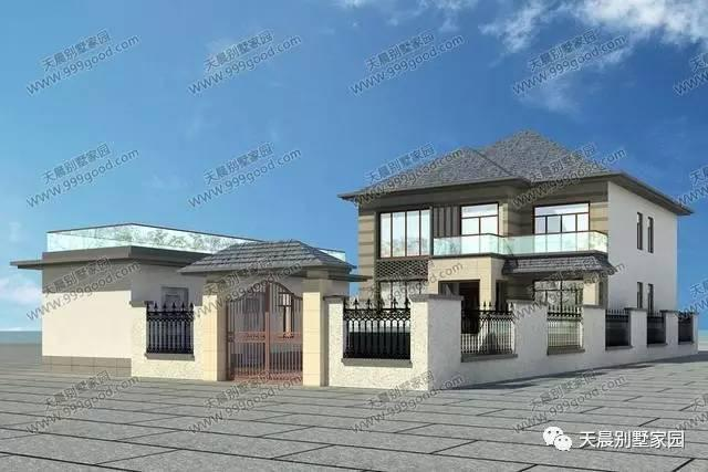 现代风格两层别墅设计图,复式错层,造采用框架结构.占地面积:131.