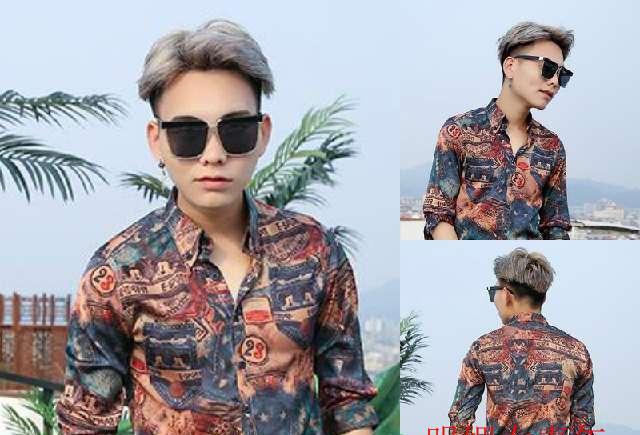 帅气发型: 时尚帅气的男生三七分韩式烫发发型!图片
