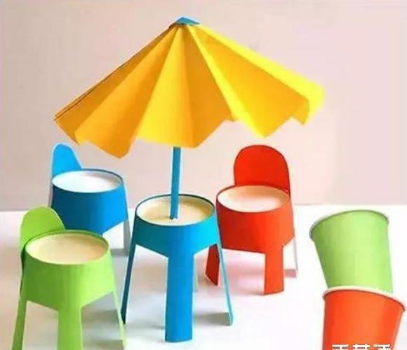 一次性纸杯手工制作椅子 儿童玩具椅子制作教程图片