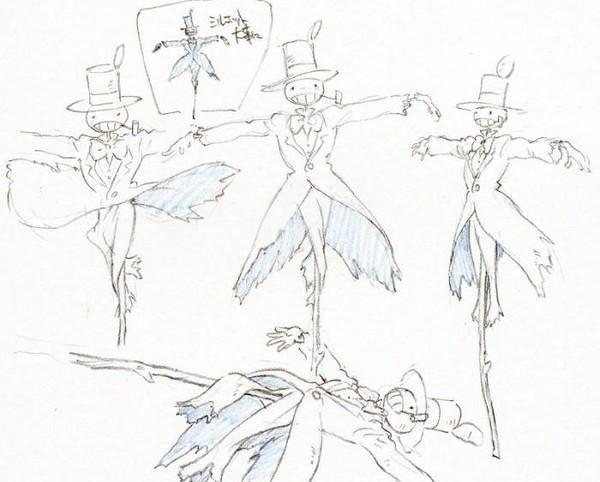 手绘作品|宫崎骏四十年动漫,带有温度的原画手稿