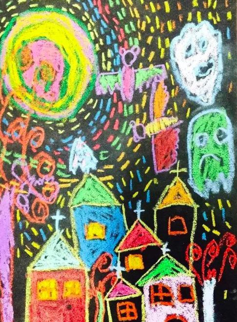 幼儿园绘画:砂纸画|带着股子糙劲儿,有意思图片