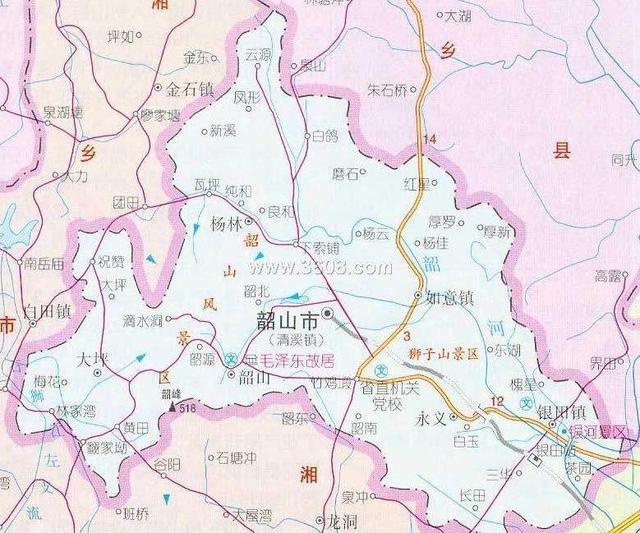 韶山市地图