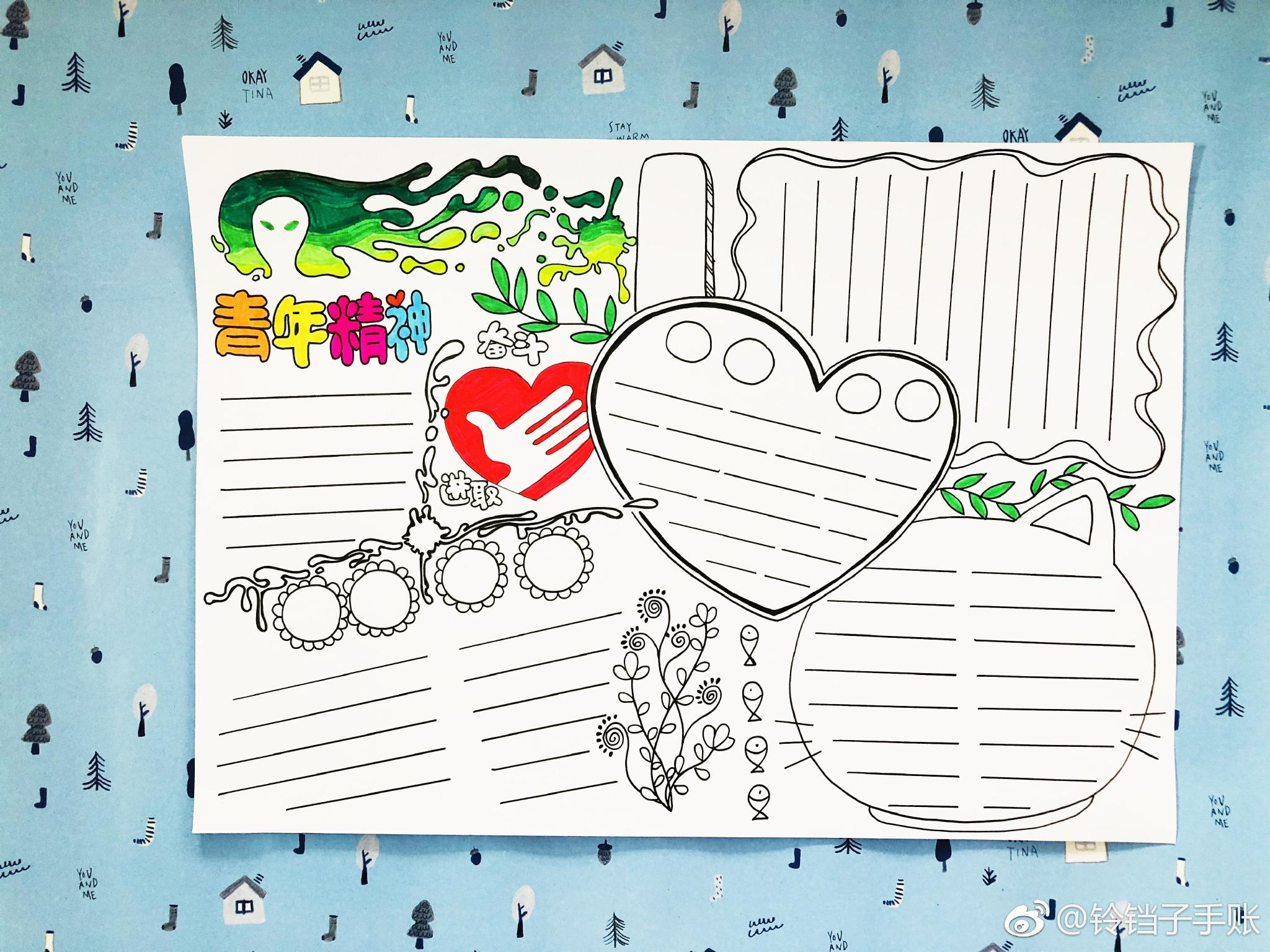 手绘小报设计版面图片
